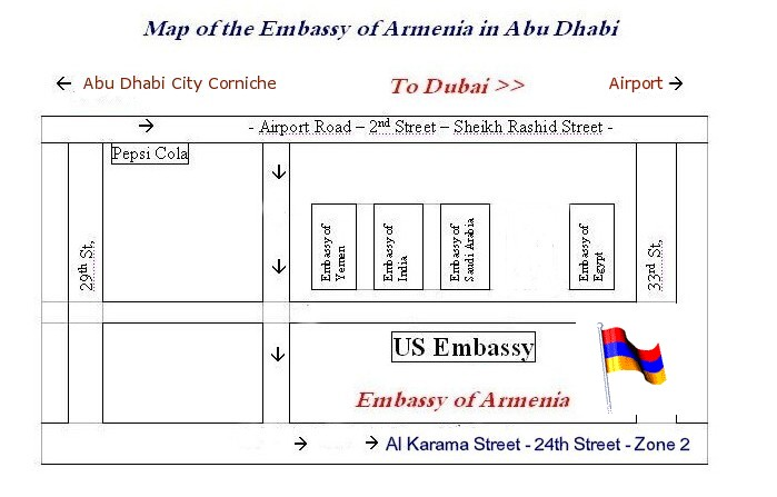 Embassies In Abu Dhabi - Netherlands embassy kuwait map