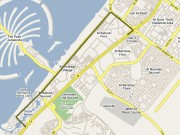 NOT the official route map for the Al Sufouh Tram - only a guess