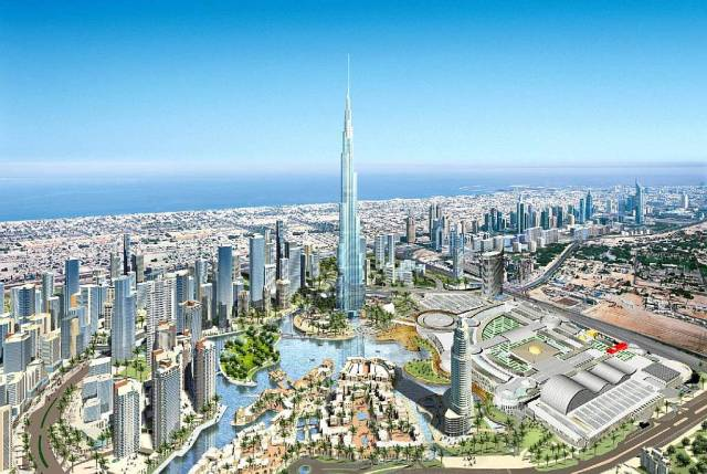 Burj Dubai and Downtown Dubai development - artist's impression