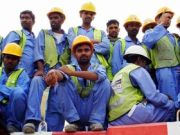 group of construction workers & labourers in Dubai