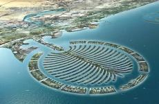 Artists sketch of the Deira Palm Island