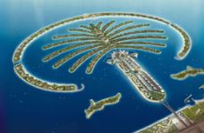 Mock up of the Jumeira Palm Island